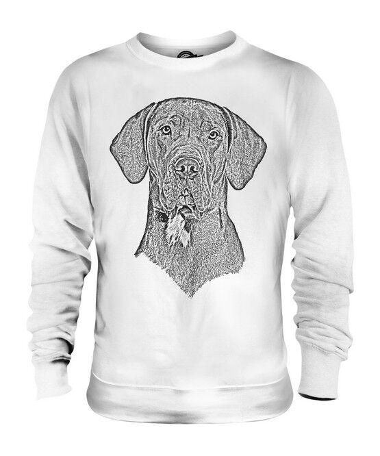 GREAT DANE SKETCH UNISEX PRINTED SWEATER TOP GREAT GIFT DOG LOVER GERMAN MASTIFF