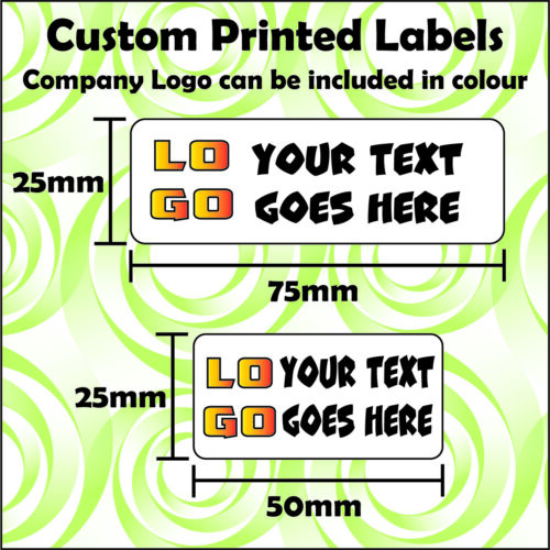 Business Returns Address Product Sorting Labels Stickers Custom Printed Text