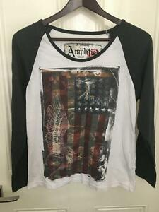 Amplified-American-Themed-Raglan-Style-Sleeve-Top-Size-Small