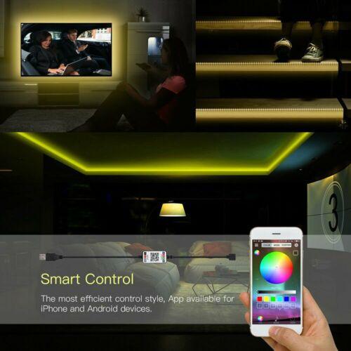 5V USB LED Strip Lights 5050 RGB Color Change Bluetooth APP Remote TV Back Light