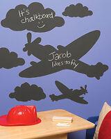 Chalkboard Murals Clouds Planes Peel N Stick Black Board Chalk Airplane Stickers