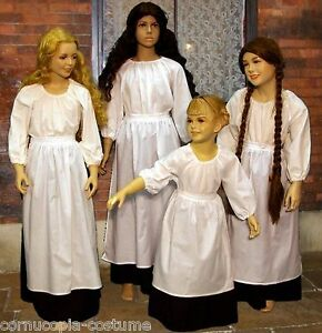 Girls-3pc-Victorian-peasant-or-Medieval-wench-costume-fancy-dress-B-amp-W