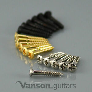 6 x NEW Vanson Countersunk Bridge Screws for Tele®* / fixed bridge guitars
