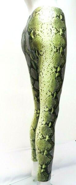 ** Nuovo Look 2019 Premium In Tessuto Neon Bagnato Leggings Serpente Stampato Animale Made In Uk ** Per Cancellare Il Fastidio E Per Estinguere La Sete