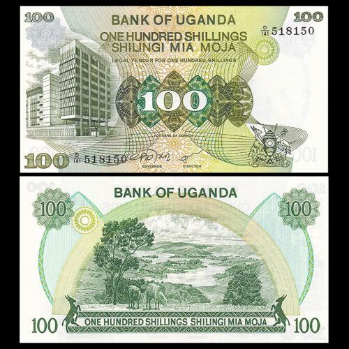 UNC Uganda 100 Shillings P-14 ND 1979