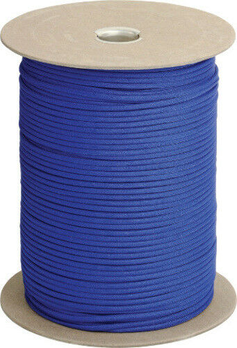 Parachute Cord Parachute Cord Royal bluee 1,000 ft length. Ideal  for camping, boa  waiting for you