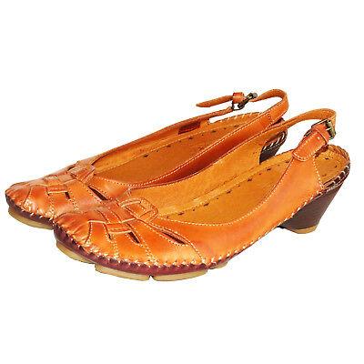 RRP £ 89 PIKOLINOS chaussures femme open-toe Chaussures à Enfiler En Cuir La Sandales UK 6-7