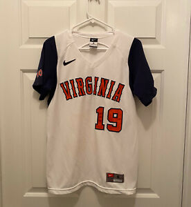 Virginia Cavaliers UVA Women's Softball Game Worn Nike White #19 Jersey Small