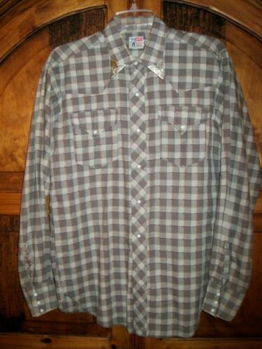 Vtg LEVIS Big E Shirt 1940s-50s SADDLEMAN TAG West