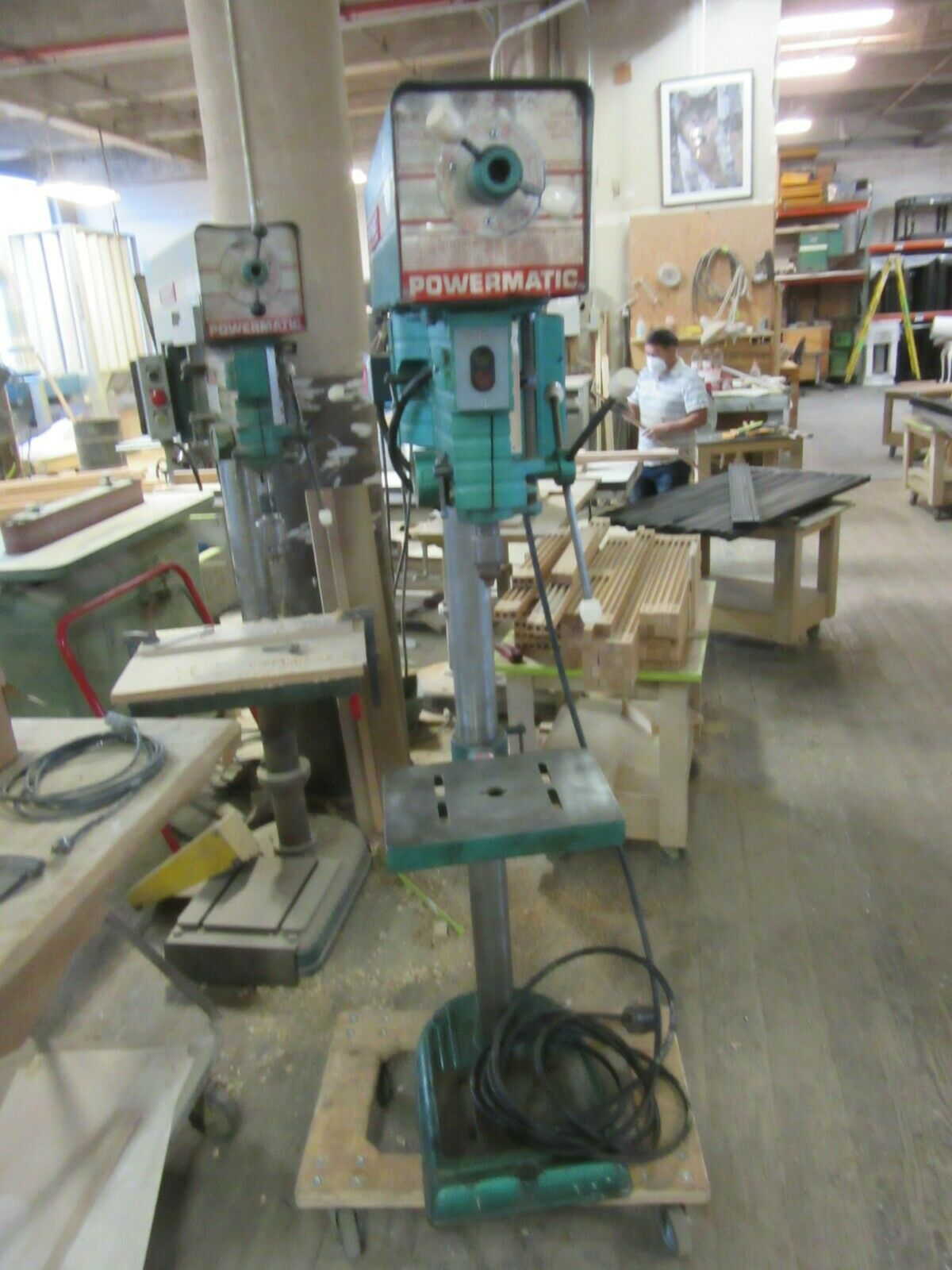 Powermatic Drill Press 1150 Verable speed spindle side pulley #1150 powermatic