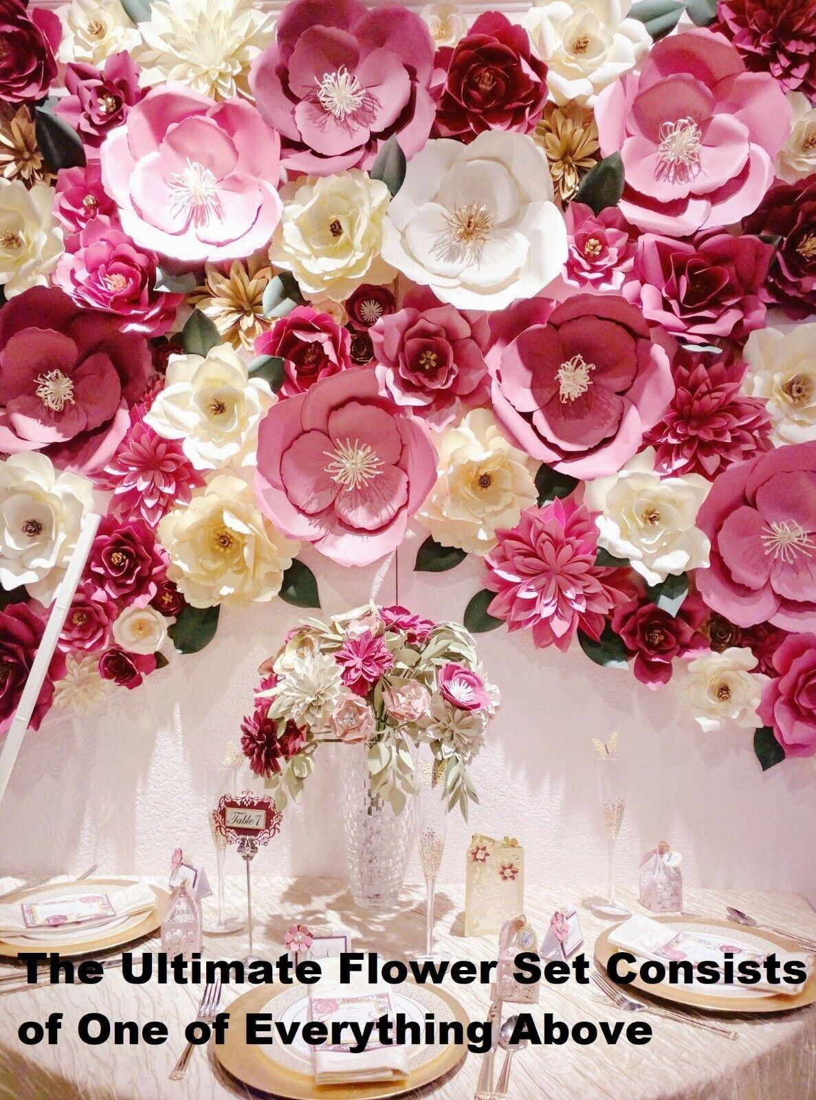 Sizzix David Tutera Large Rose Framelits Die Set Flower Floral Paper 562399