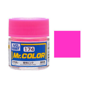 Image Is Loading Mr Hobby Color C174 Fluorescent Pink Paint 10ml