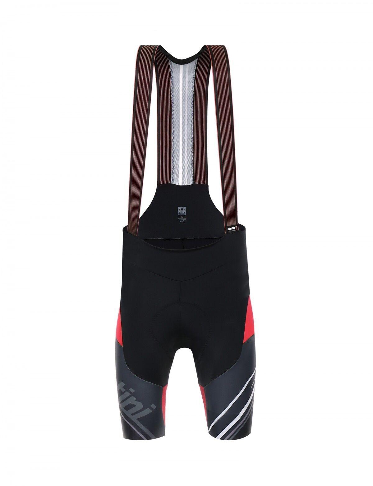 SALOPETTE SANTINI TONO black  red tg. S  more affordable