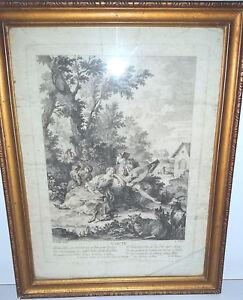 Gravure-eau-forte-Pierre-AVELINE-1654-1722-L-039-ouie