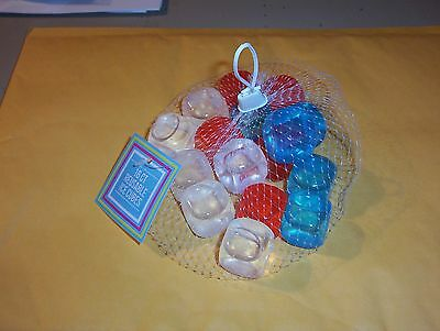 REFREEZABLE PLASTIC ICE CUBES- RED, WHITE AND BLUE