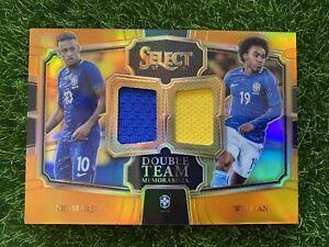 2017-18 Select Soccer NEYMAR JR. WILLIAN Double Team Patch /75 Orange Brazil