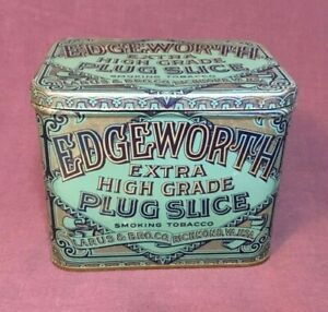 Vintage-EDGEWORTH-TOBACCO-TIN-EXTRA-PLUG-SLICE-4-1-2-x-3-1-4-x-3-5-8-034-EMPTY