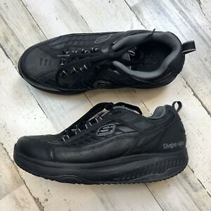 Sketchers-Shape-Ups-Mens-Black-Suede-Toning-Walking-Shoes-SN52000-Size-11