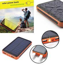 Solar Ladegerät Power Bank Akku USB für Smartphone etc. - 2 USB Lade Ports