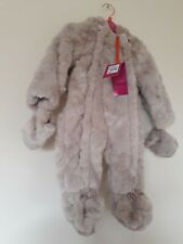 789d922b5 BNWTS STUNNING Ted Baker Baby Girls Faux Fur Snowsuit With Bow ...