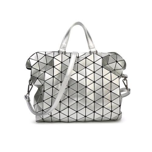 635c3342db 2 of 7 Geometric Sequin Bao Bao Women Handbag Quilted Laser Briefcase  Laptop Bag New