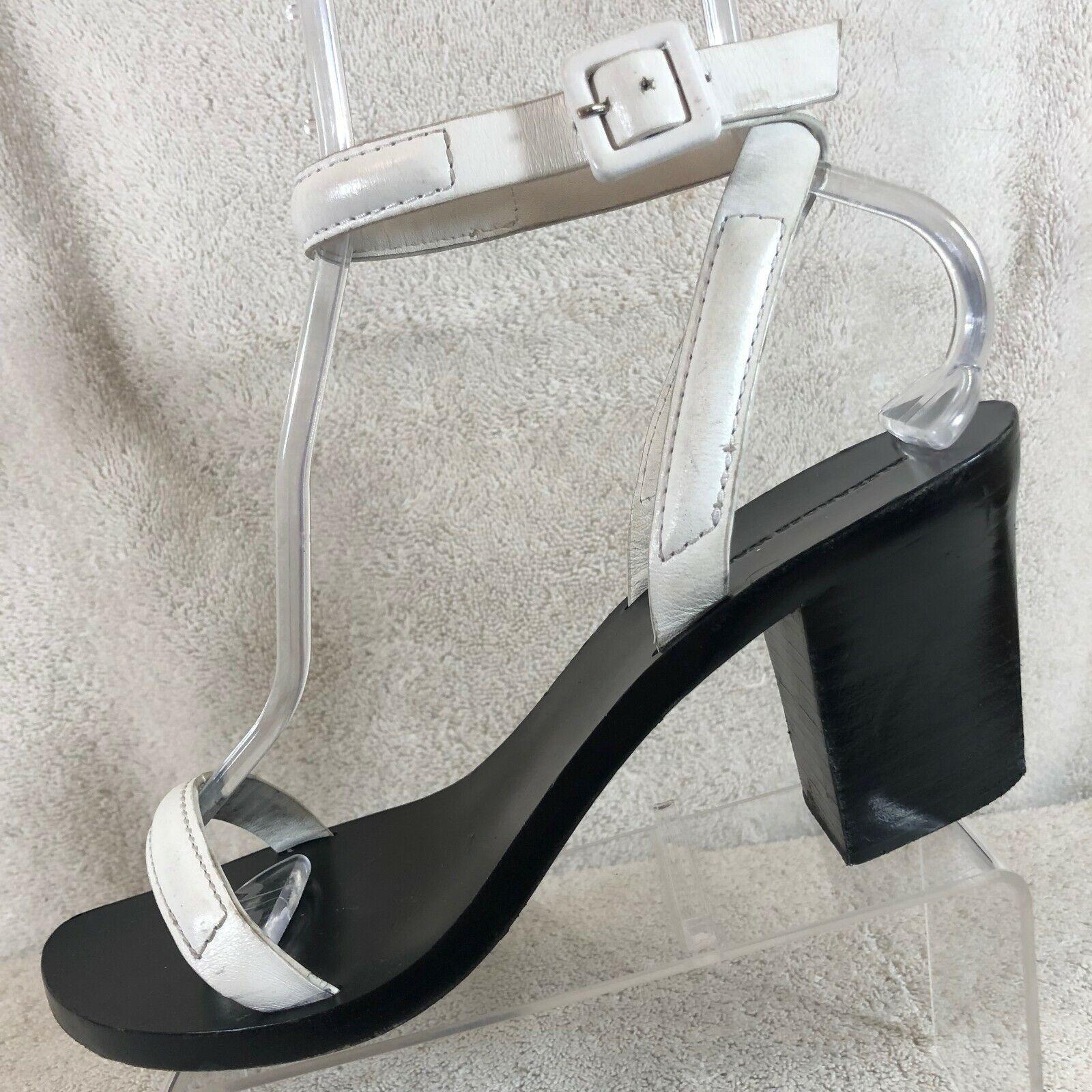 Alexander Wang White Leather Ankle Strap Sandal Heels Women's US 9.5   EU 40