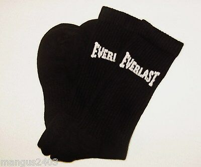 MENS QUALITY EVERLAST COTTON SPORT TRAINER SOCKS WHITE BREATHABLE /& ARCH SUPPORT