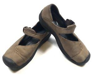 KEEN-Womens-US-7-Mary-Jane-Flats-Nubuck-Leather-Buckle-Comfort-Walking-Shoes