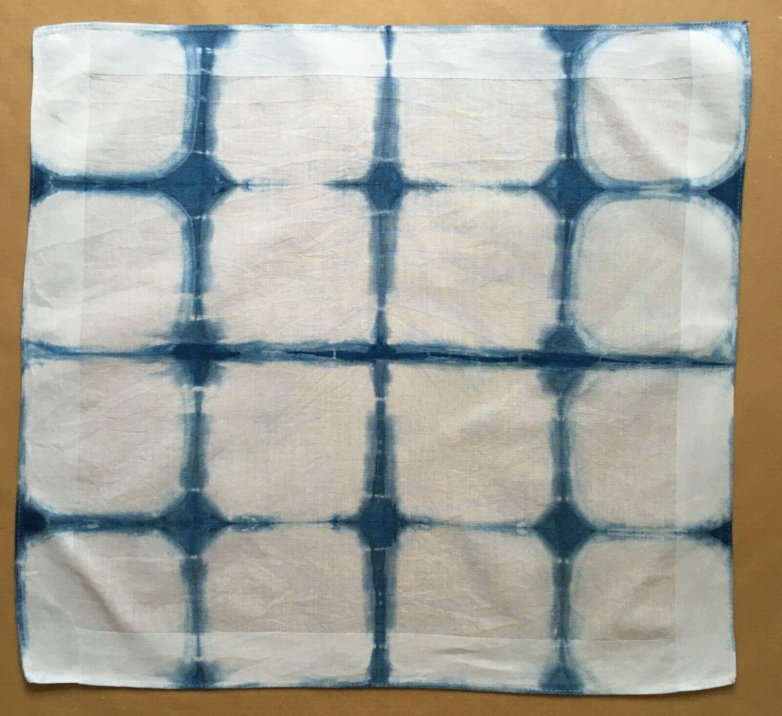 Shibori Indigo Dyed Cotton Handkerchief