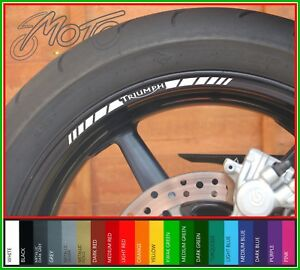 2 Tone Amethyst Motorcycle Rim Wheel Decal Accessory Sticker for Triumph Street Triple 675