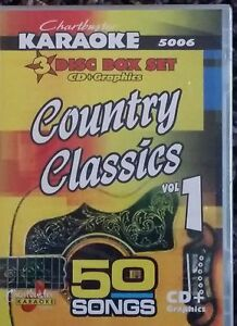 Details about CHARTBUSTER KARAOKE CDG COUNTRY CLASSIC VOL 1(5006) 3 DISC  BOX SET 50 TRACKS