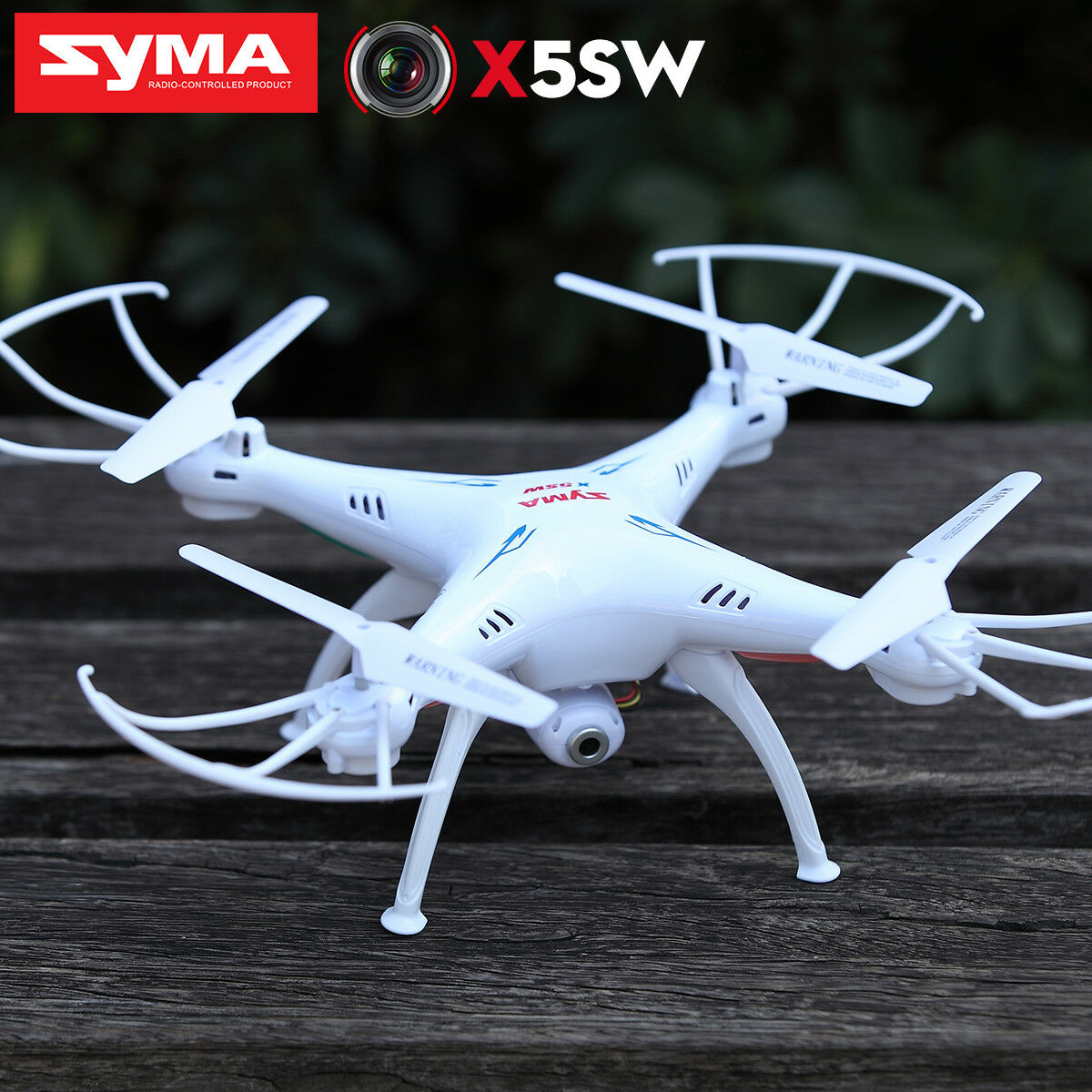 5Battery RC Quadcopter Drone SYMA X5SW 2.4G WIFI Camera FPV Real Time Helicopter