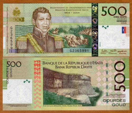 UNC Commemorative 2016 P-277-New Signature and date 500 Gourdes Haiti