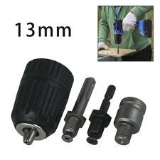 2 13mm Keyless Drill Bit Chuck Adapter Converter 14hex Shank 38 Sds Plus Kit