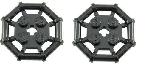 LEGO 2 X Black Parabolic Ring Rod Octagonal 2x2 Studs with Cut Edges NEW 30033