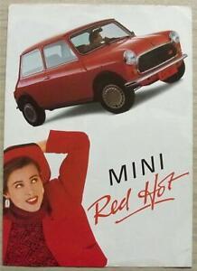 MINI-RED-HOT-Car-Sales-Brochure-c1988-GERMAN-TEXT-EO466