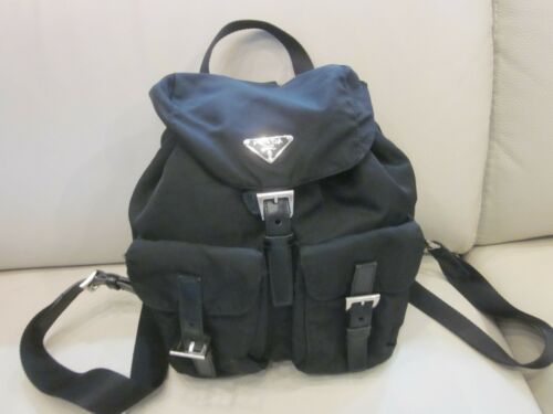 Women's Black Nylon PRADA Backpack