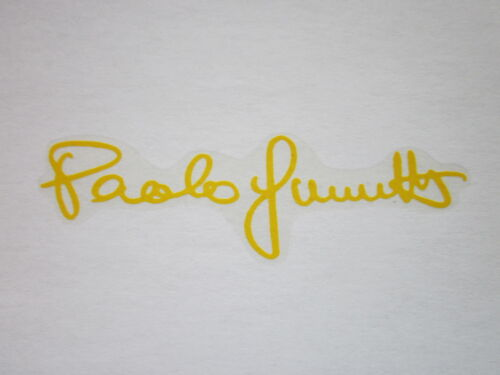 NOS GUERCIOTTI FRAME DECAL SIGNATURE YELLOW LAST ITEMS