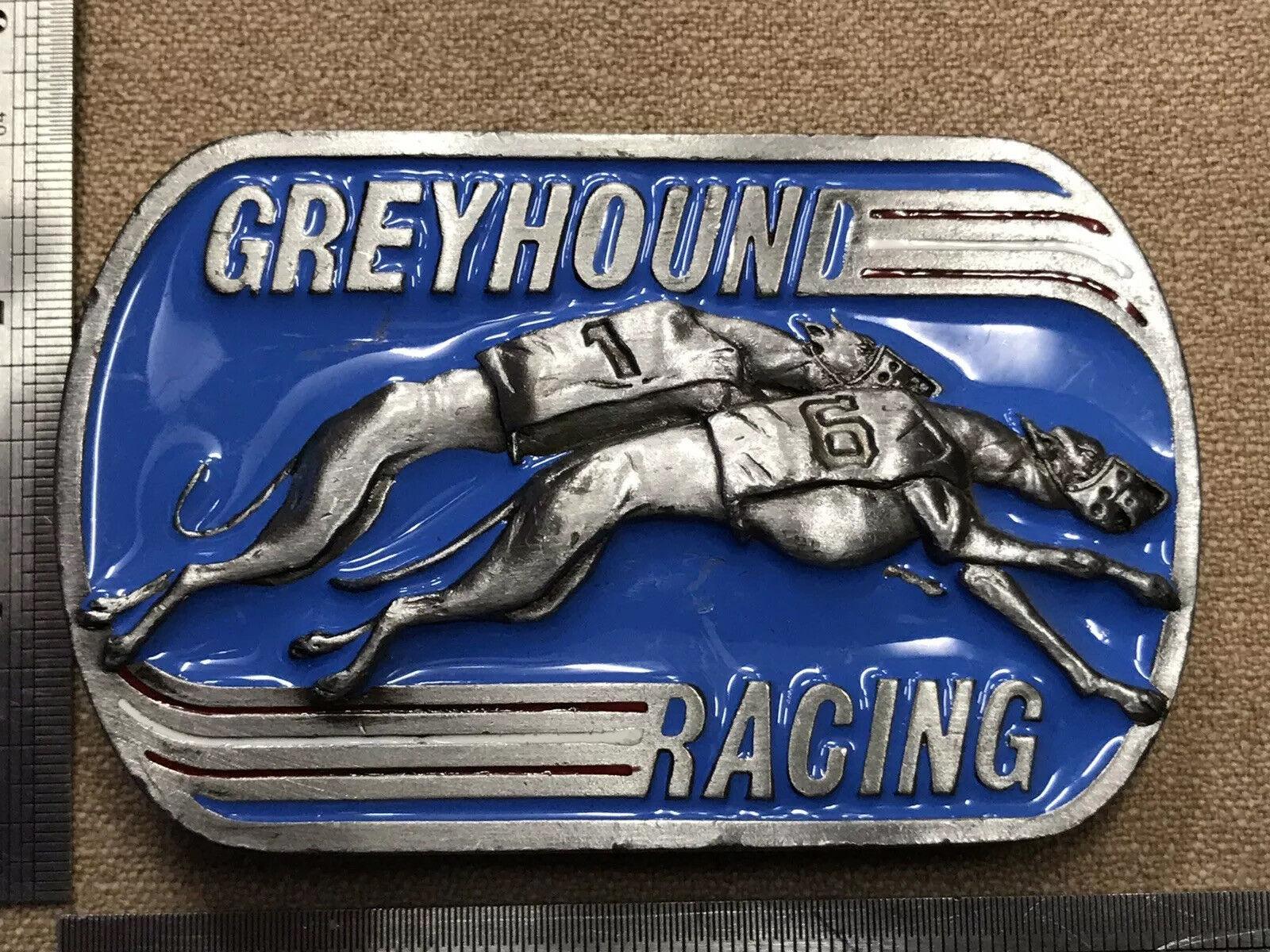 'Greyhound Racing' Belt Buckle 1990