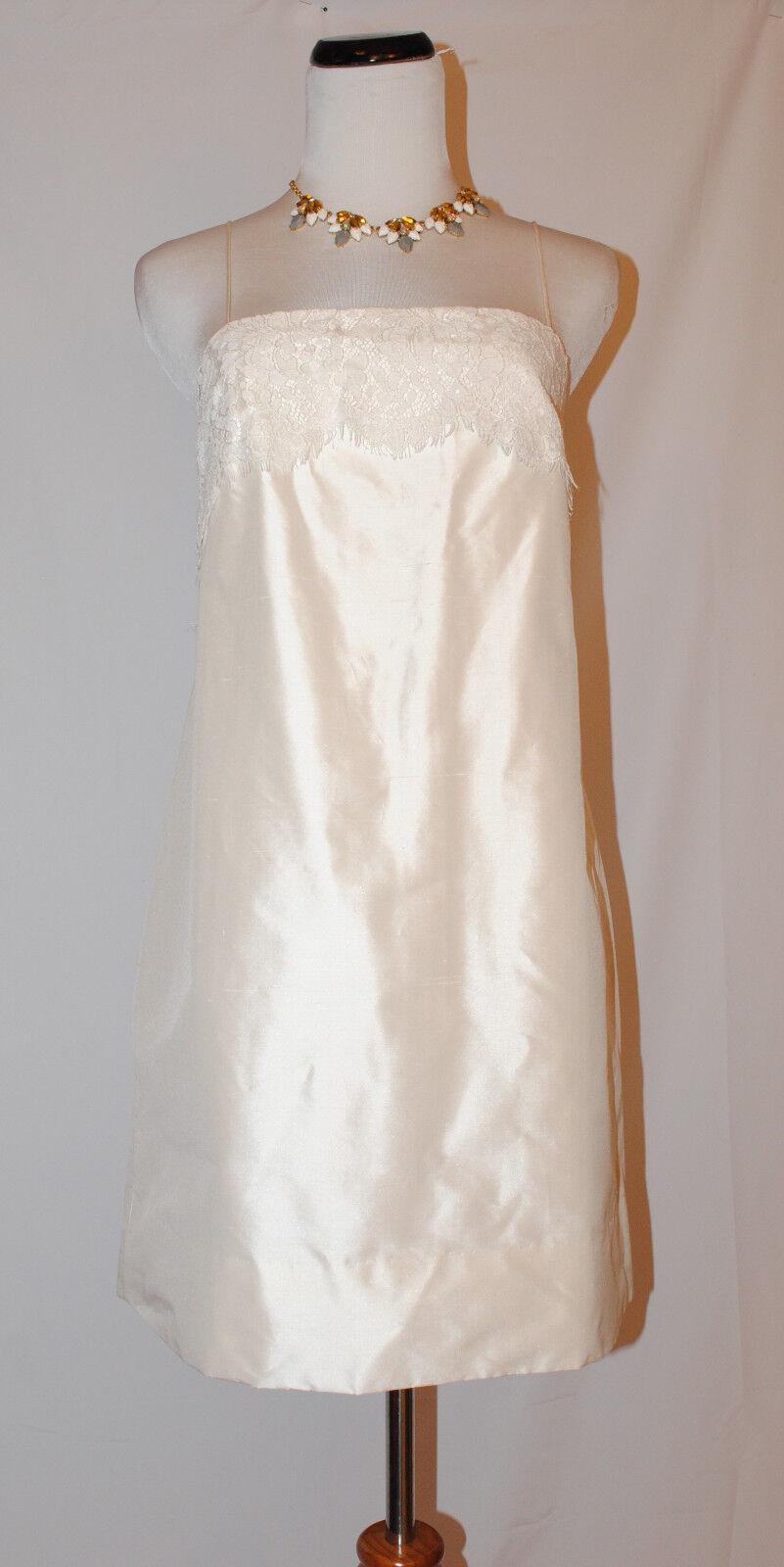 J.CREW  LACE TRIM MINI DRESS WEDDING GOWN BRIDAL PARTY 8