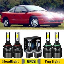 For Saturn Sc1 Sc2 1997 2002 9005 9006 880 Led Headlight Foglight 6x Bulbs Combo