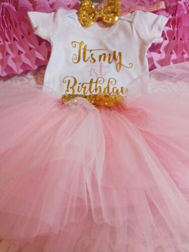 baby girl first 1st birthday outfit tutu headband cake smash photo shoot prop