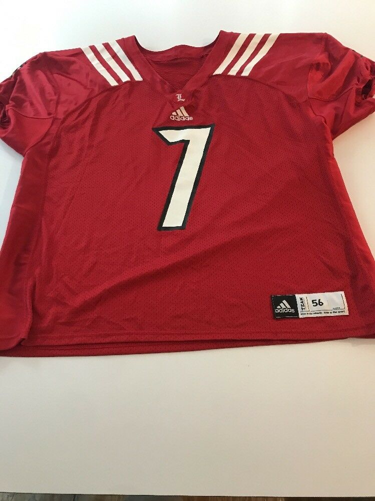 best service bcf81 9f2d0 Game Worn Worn Worn Used Louisville Cardinals UL Football Jersey Adidas Size  56 5015a2