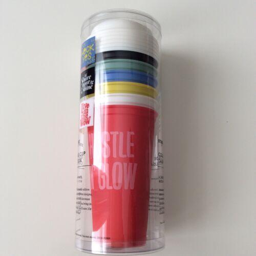 New Starbucks 2017 Reusable Cup Collection Set of 6 Designs Colors w//Lids 16 oz