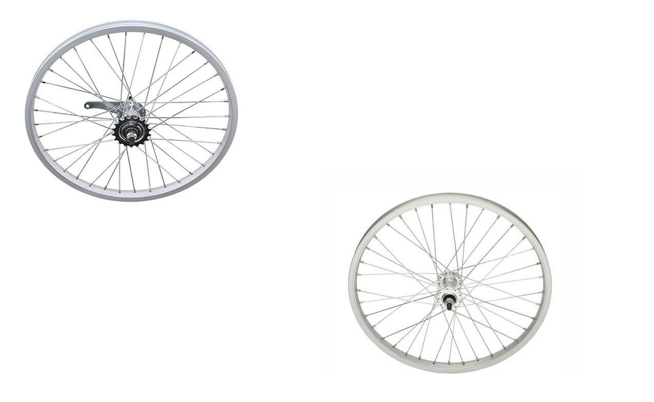 Alloy 20  x 2.125 WheelSet Front & Rear Coaster BMX Cruiser Lowrider Bikes