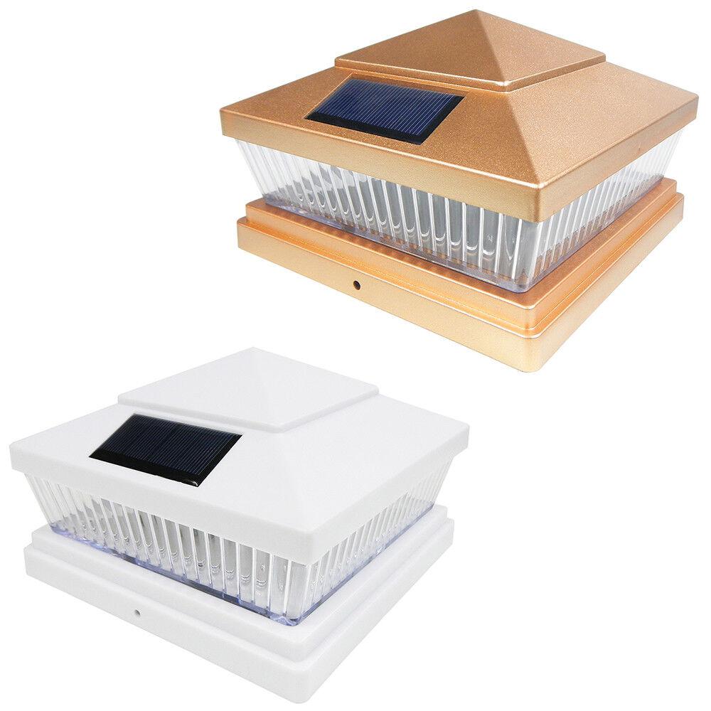 8 Cobre blancoo 5 X 5 6 X 6 Tapa De Cubierta Post Solar Luz de valla de PVC Vinilo Cuadrado