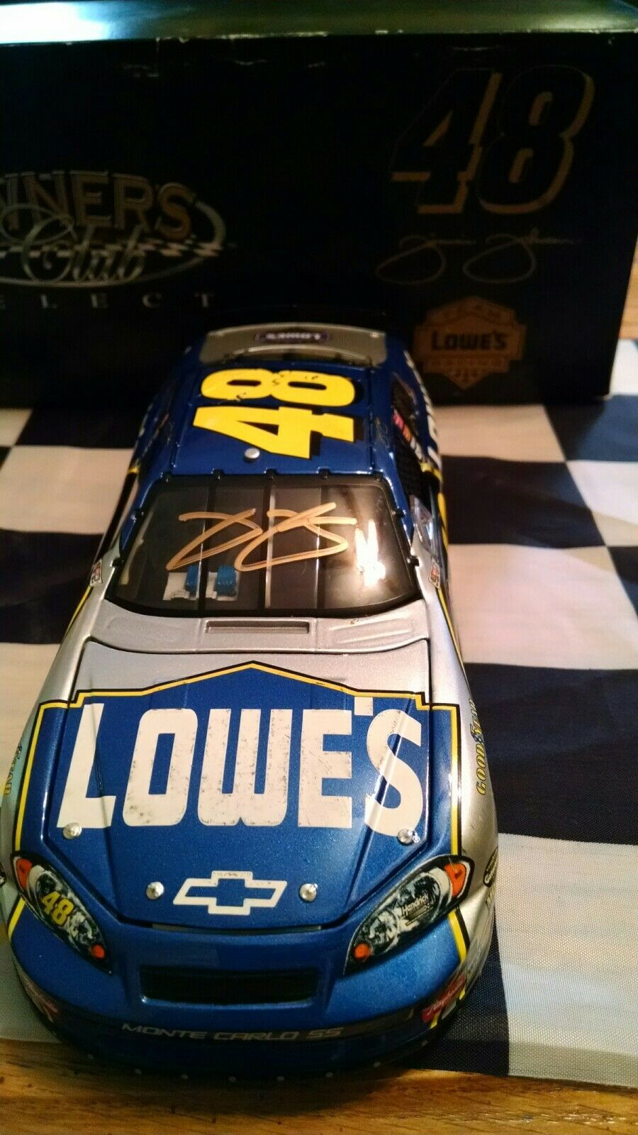 2007 Jimmie Johnson oro Autographed  48 Owners Club Select 1 24