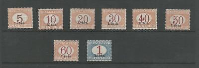 Romantisch Libyen, Briefmarke, #j1-j8 Postfrisch Mit Scharnier, 1915, Jfz
