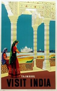 INDIA VINTAGE TRAVEL POSTER Rare Hot New 1