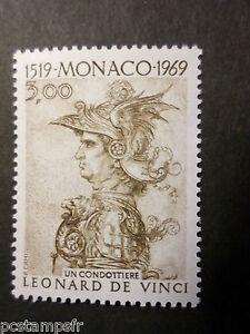 Radient Monaco 1969, Timbre 804, Leonard De Vinci Tableau Condottiere, Neuf**, Mnh